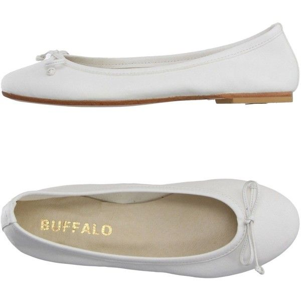 Leather ballet flats, White leather
