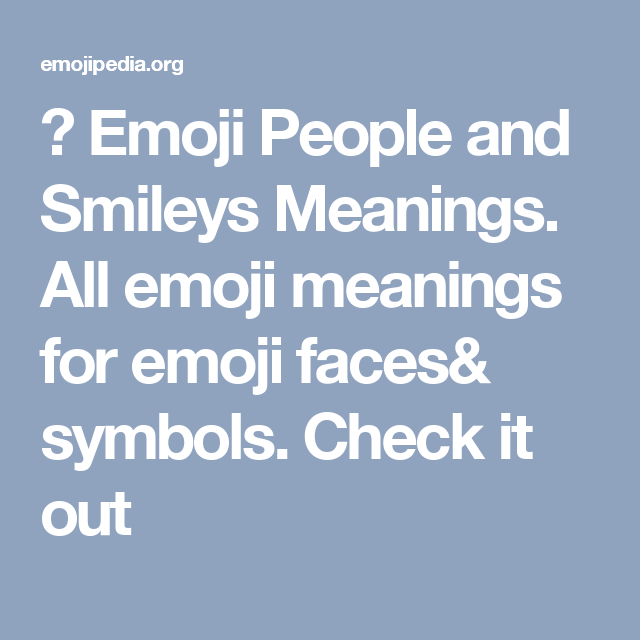 emoji people and smileys