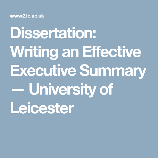 Dissertation — University of Leicester