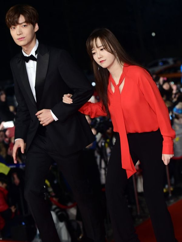 Ahn Jae Hyun Left And Ku Hye Sun Together At The Kbs Dengan Gambar