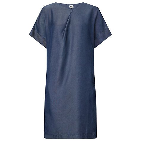 Buy Kin by John Lewis Short Sleeve Tencel Dress, Blue Online at johnlewis.com