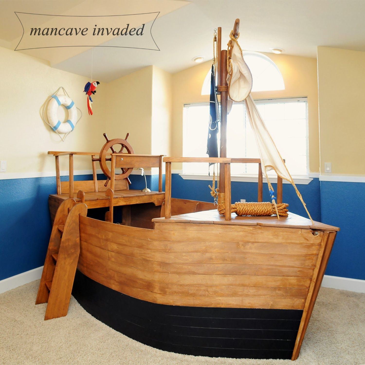 Boat Bed Years Later Boat Bed Diy Toddler Bed Toddler Boat Bed