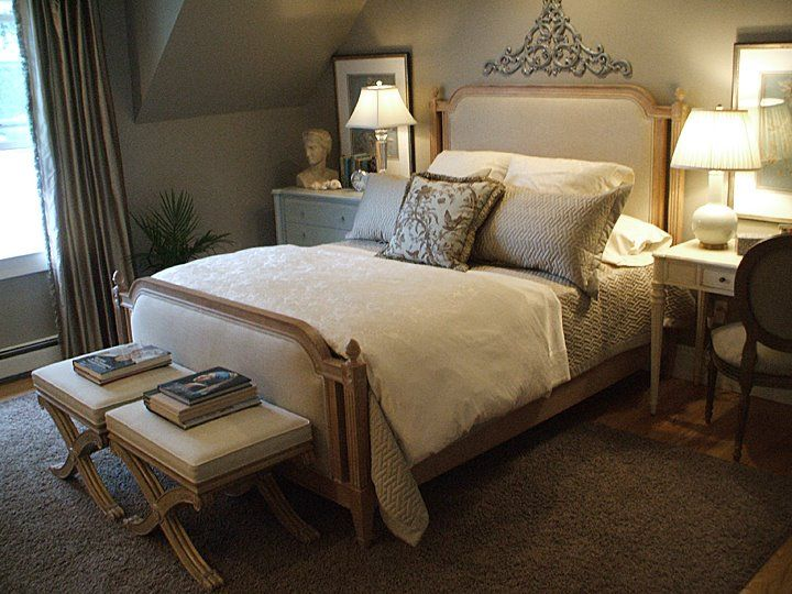 Allesandra bed and alexis bench from ethan allen a bedroom fit for a dream pinterest bench for Ethan allen country french bedroom
