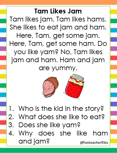 Teacher Fun Files Reading Passages With Comprehension Questions 1 Undervisning