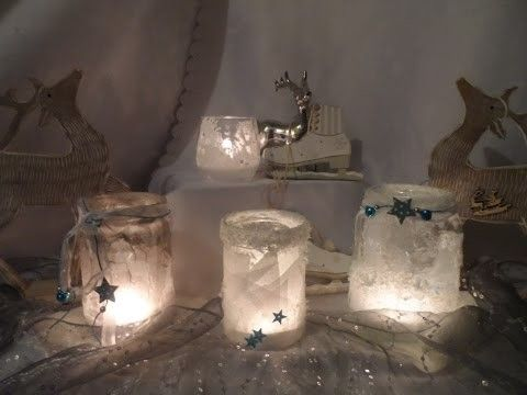 DIY  keka 6 IDEEN EIS ,geeiste Gläser basteln,SILVESTER,Silber - silvester deko selber machen