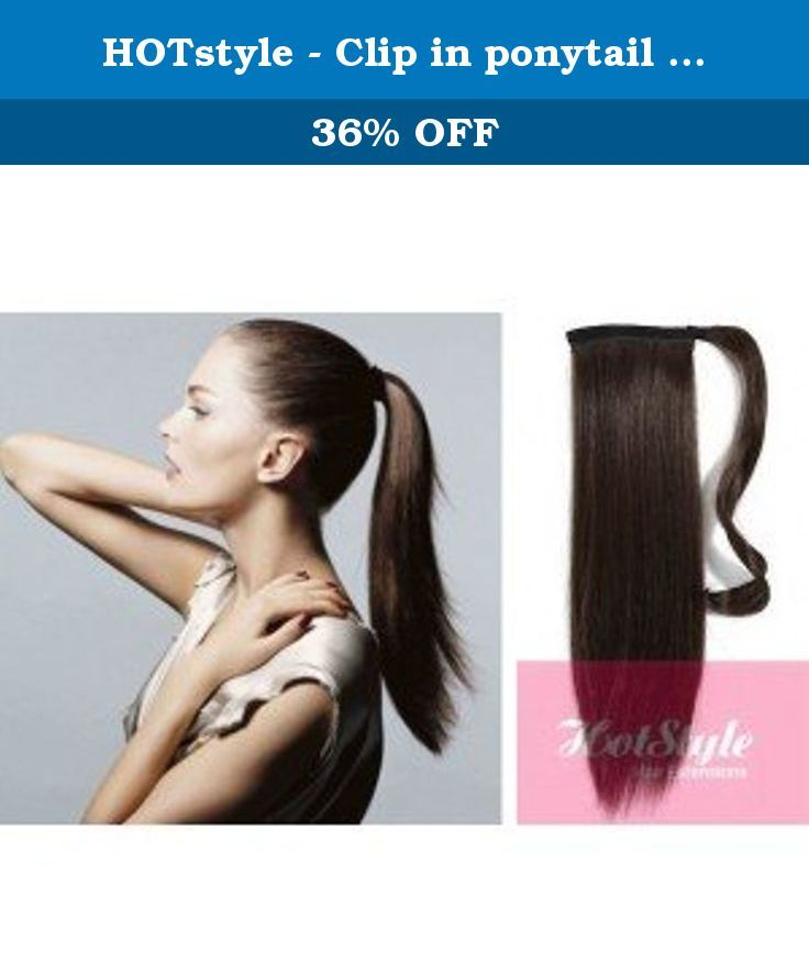 Hotstyle Clip In Ponytail Wrap Braid Hair Extension 24 Straight