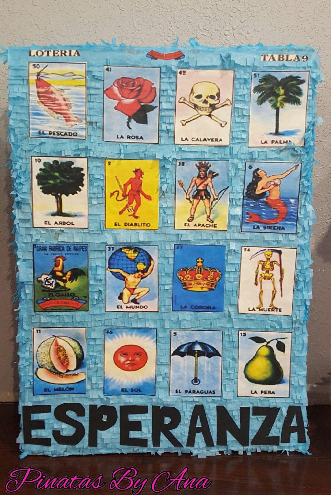 photograph relating to Free Printable Mexican Loteria Cards known as Loteria celebration Loteria card pinata Mexican bash Piñatas via