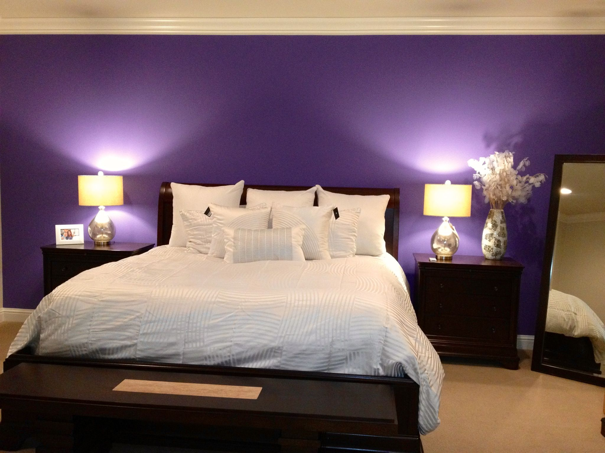 Beautiful Master Bedroom Accent Wall.
