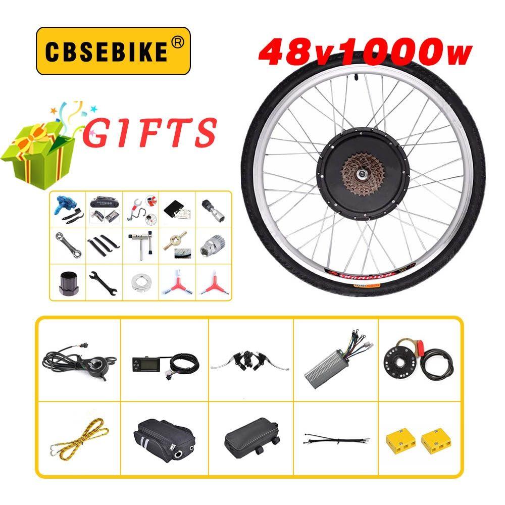 Cbsebike 48v 1000w Rear Electric Bike Kit For 20 26 28 700c 29inch Wheel Motor Lcd Ebike E Bike Conversion