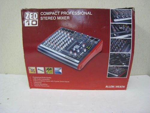 Allen Heath Zed 10 10 Channel Compact Professional Stereo Usb Mixer Demo 220 Free Shipping