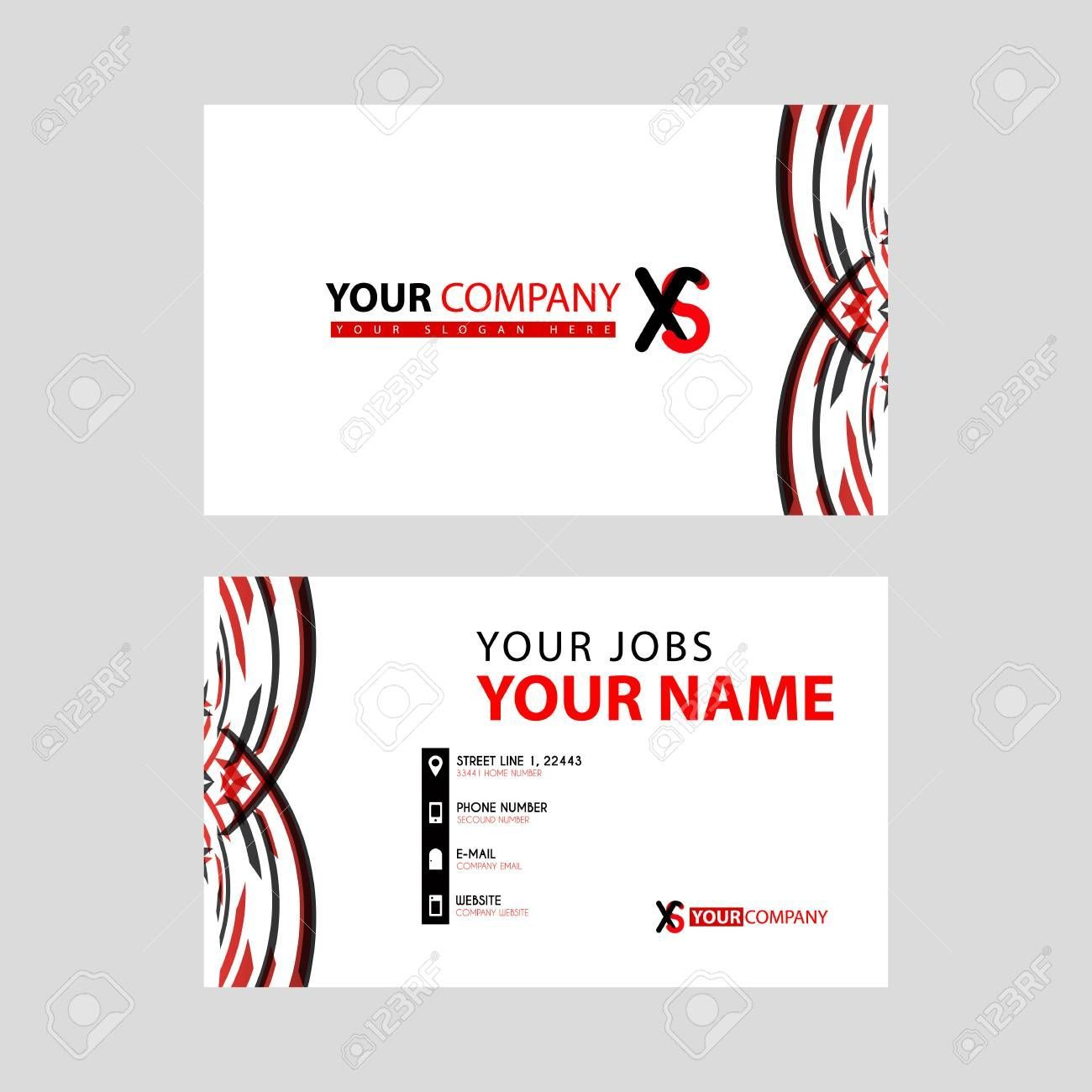 standard business cards template red xs design business cards by