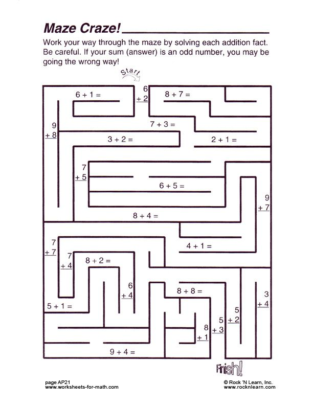 Free Worksheet From Worksheets For Math Com By Rock N Learn Free