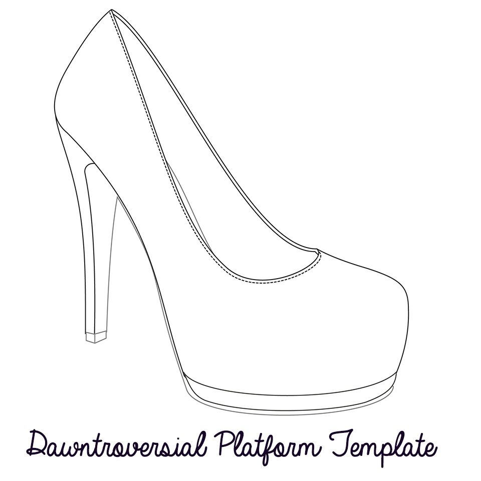 printable high heel stencil best photos of b high heel template