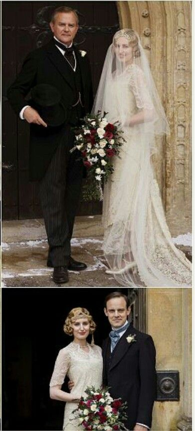 Downton Abbey Season 6 Episode Robert Crawley Earl Of Grantham With Daughter Lady Edith At Her Wedding To Bertie Pelham
