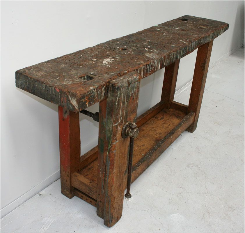 Small French Workbench Woodworking Pinterest Footprints And