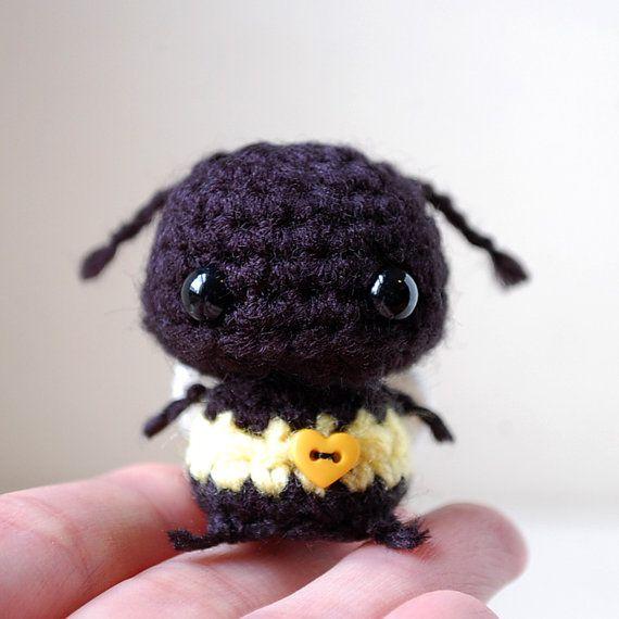 Kawaii Baby Bumblebee  Mini Amigurumi by twistyfishies on Etsy, $13.00