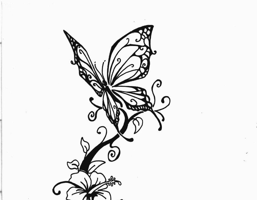 Hibiscus And Butterfly Tattoos Best Tattoo Ideas