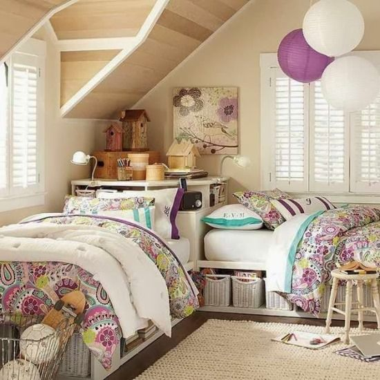 51 Stunning Twin Girl Bedroom Ideas | Ultimate Home Ideas | Girl\'s ...
