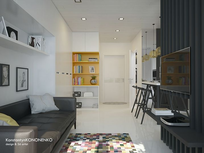 am nager et d corer un appartement de moins de 50m2 appartements modernes appartements et exemple. Black Bedroom Furniture Sets. Home Design Ideas