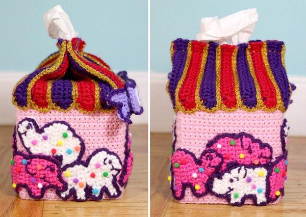 crochet animal cookies tissue box cozy by @Twinkie Chan | Crochet ...
