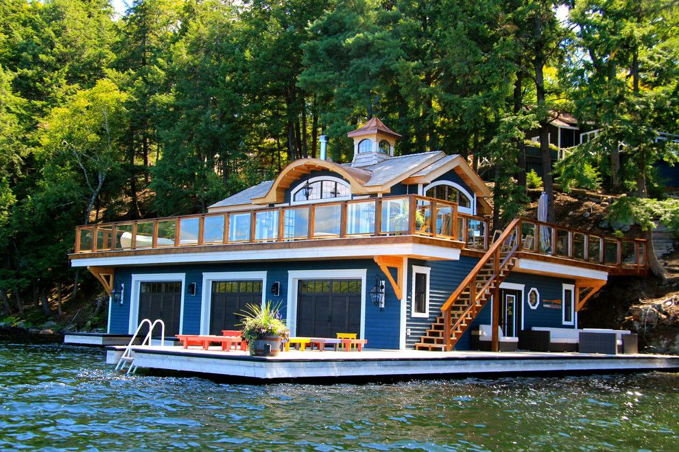 Boat Dock Ideas For Beach Style Exterior With Cedar Ceiling