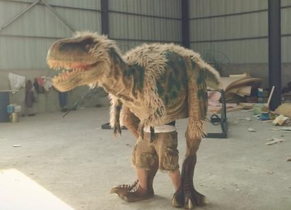 realistic walking dinosaur costume do you ever imagine what if a dinosaur come back to life