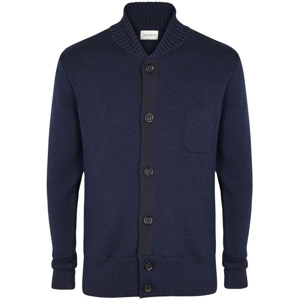 Oliver Spencer Milano navy merino wool cardigan (351,920 KRW ...
