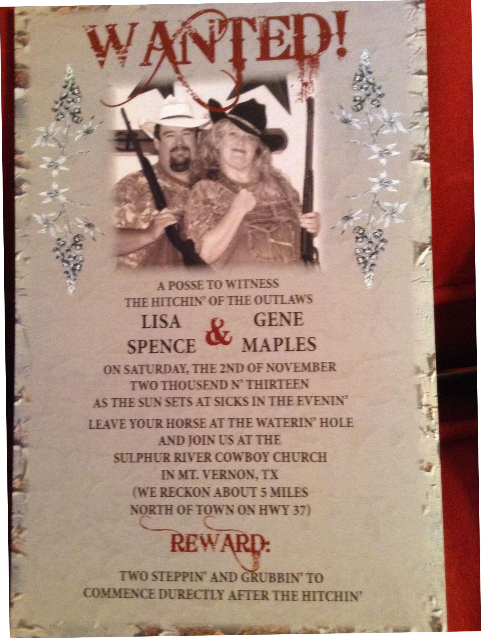 Redneck Wedding Invitations: Funny Shotgun Wedding Invitations At Websimilar.org