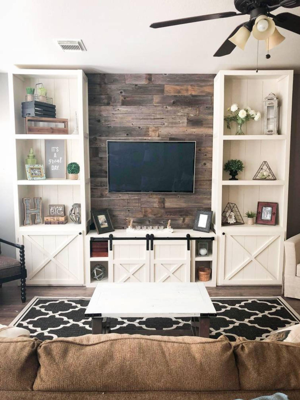 House House Tv Unit Design Modern Living Big Hit Entertainment Edificio Blog Design In 2020 Farm House Living Room Living Room Built Ins Living Room Entertainment