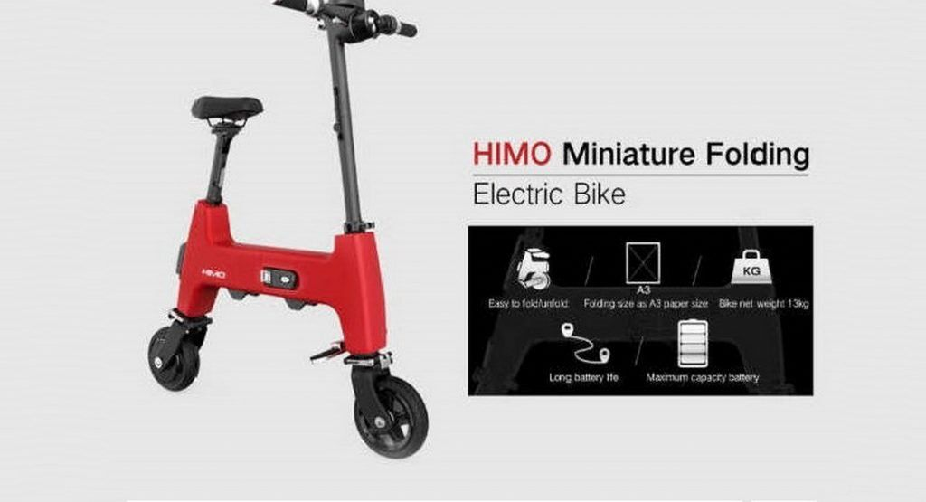 Xiaomi S Himo H1 Electric Bike Can Be Folded Down To The Size Of