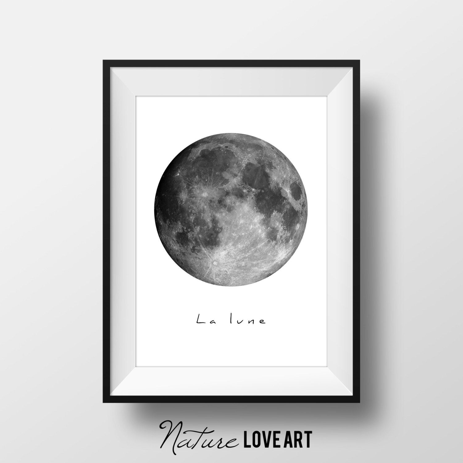 la lune poster de la lune photo lune affiche scandinave. Black Bedroom Furniture Sets. Home Design Ideas