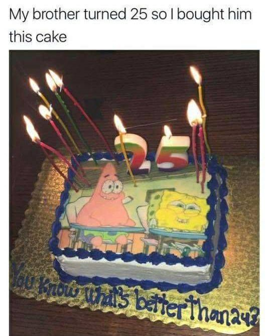 Spongebobsquarepants Spongebob Birthday Bday Cake 24 25 Quotes Funny Tumblr Party