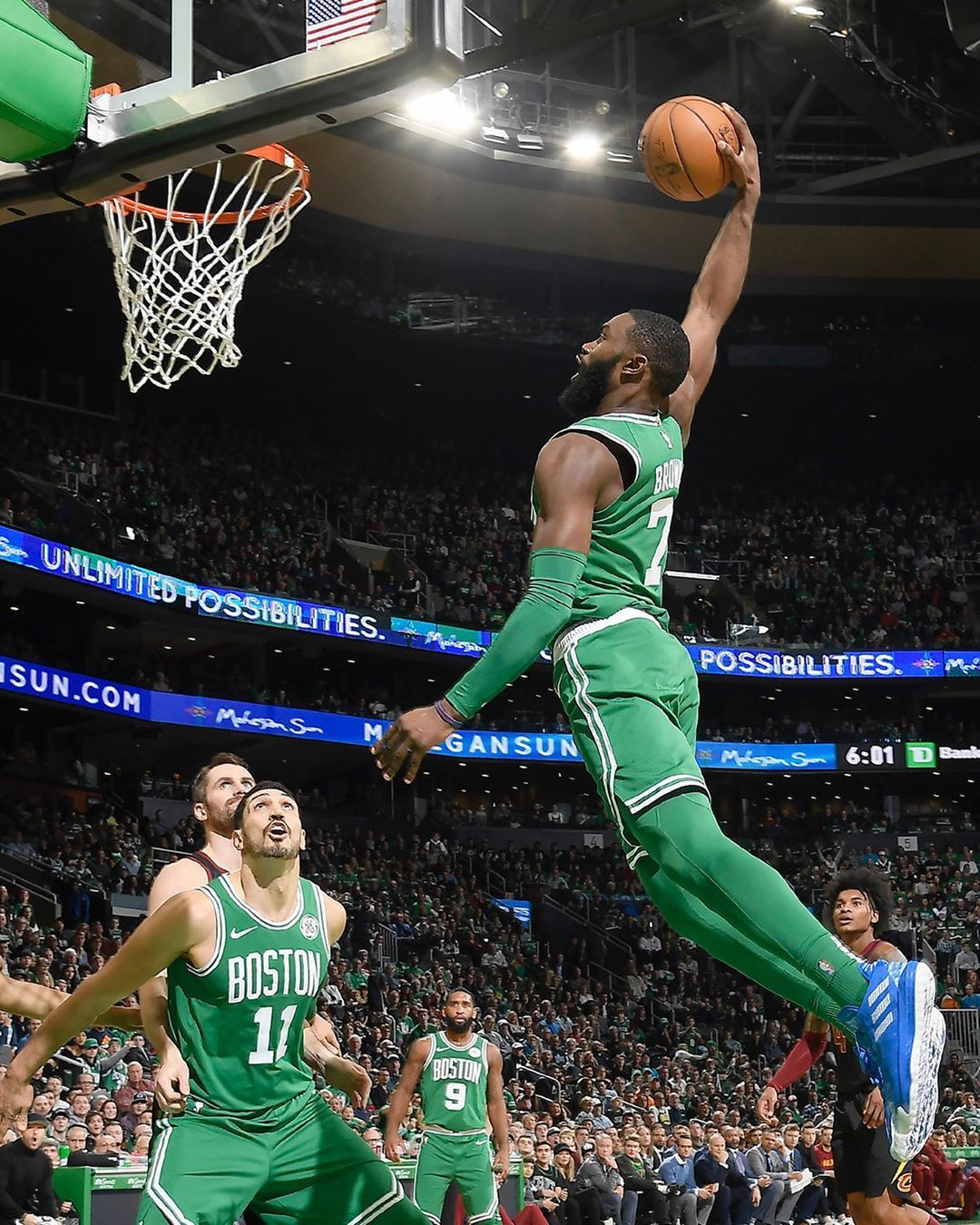 Slam X Kicks On Instagram Jaylen Going Green To Blue Green To Blue Boston Celtics Nba Wallpapers