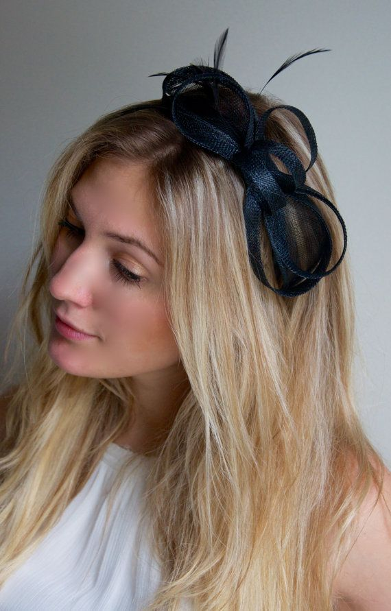 Mini Black Fascinator - Flitter-by Mesh Black Fascinator Headband