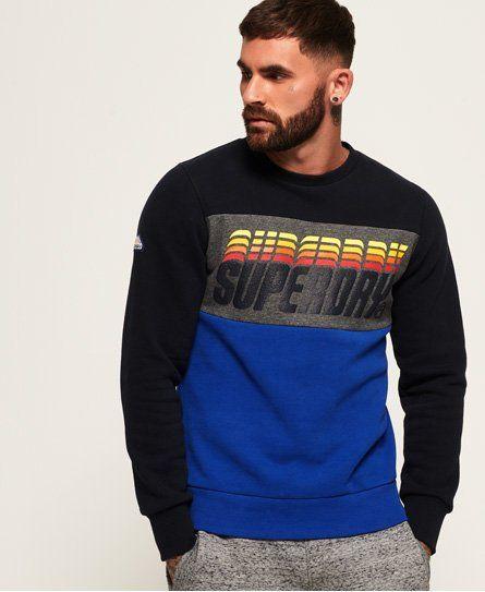 Superdry Triple Drop Pop Panel Sweatshirt  083f17e616b