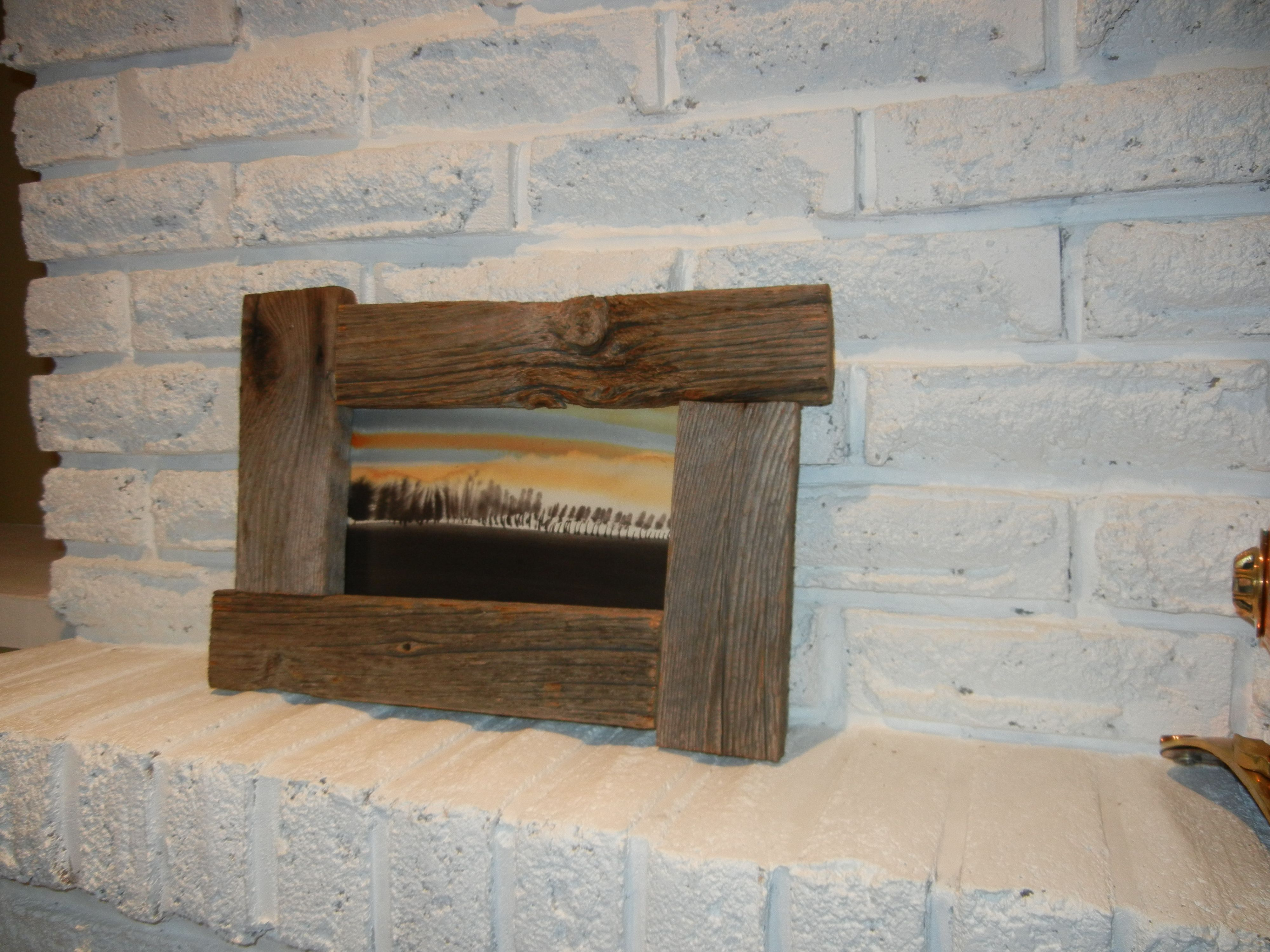 Reclaimed Ontario barn board picture frame.