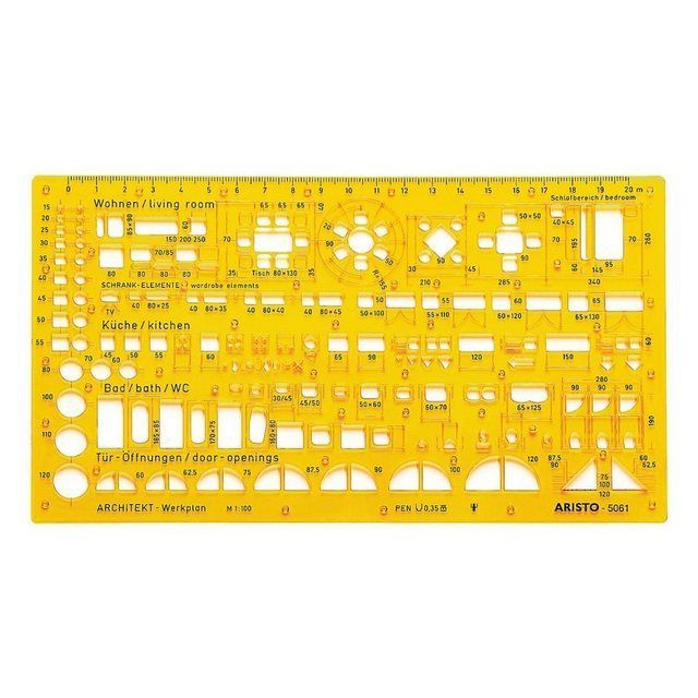 Schablone Architektur Kombi Ar5061 Periodic Table Diagram