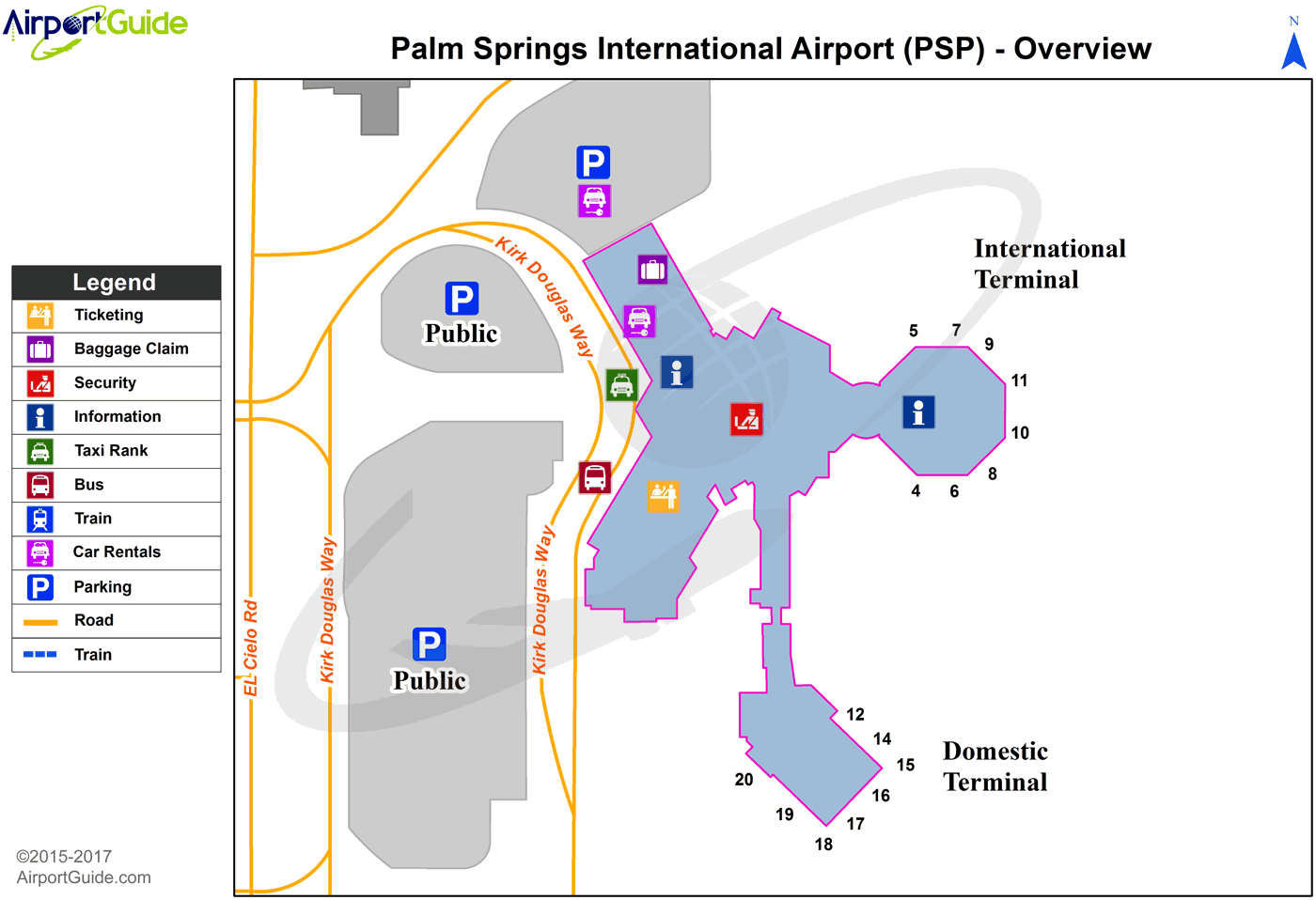 palm springs airport map Palm Springs Palm Springs International Psp Airport Terminal Map Overview Airport Guide Airport Palm Springs International Airport palm springs airport map