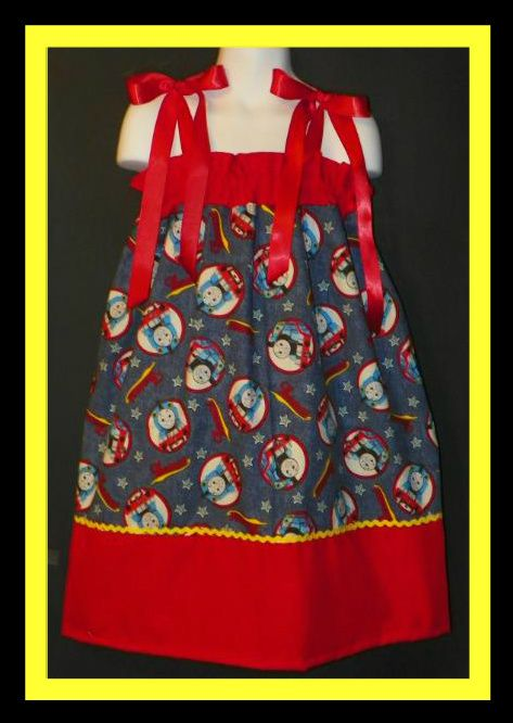 Thomas The Train Pillowcase Pleasing Pillowcase Dress Thomas The Train Boutique Custom New  Ebay Design Ideas