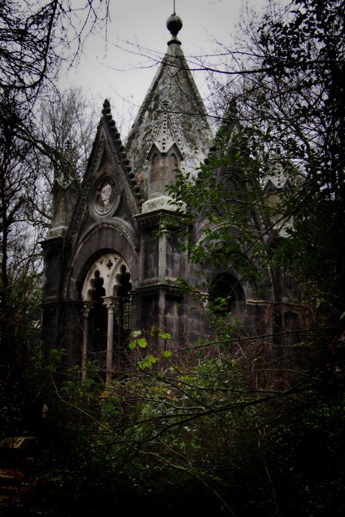 Abandoned Gothic mansionthis photo inspires me to write