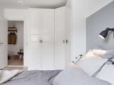 Babykamer In Hoek : Scandinavische slaapkamer met hoek kledingkast slaapkamer