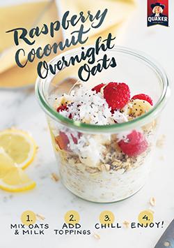 Raspberry Coconut Overnight Oats | Recipe | Food recipes, Yummy ...