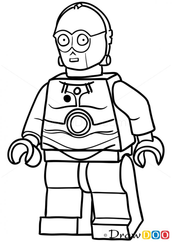 How to Draw C-3po, Lego Starwars | Lego Party | Pinterest