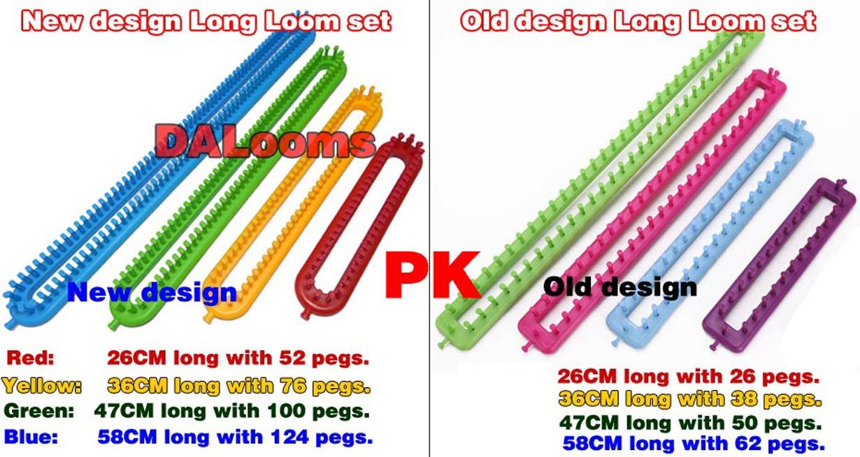 New Design Long Loom Set Compare With Knifty Knitter Kn New