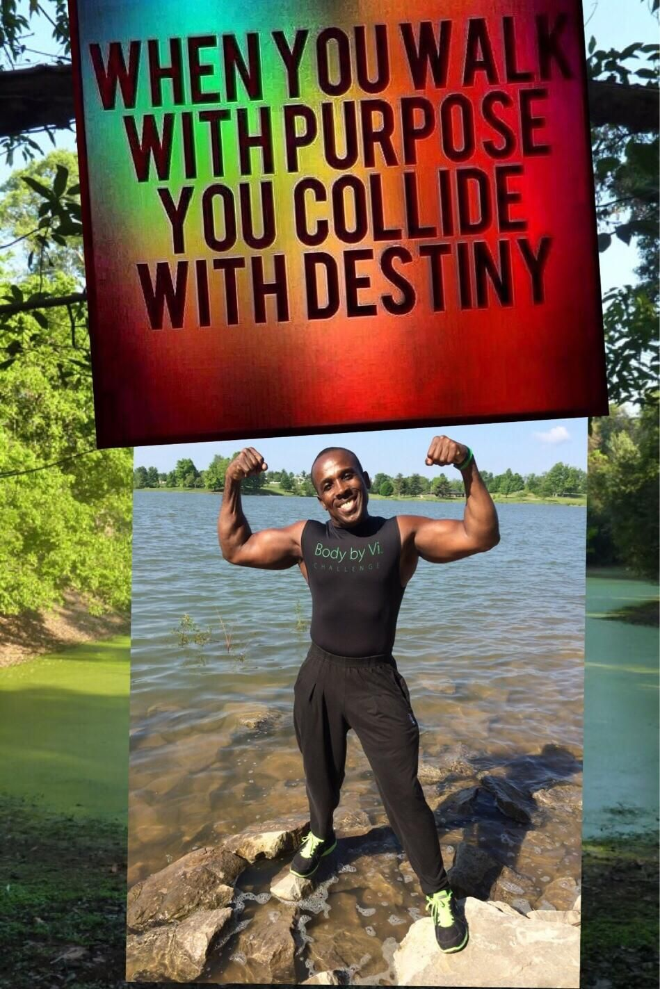 WHEN YOU WALK WITH PURPOSE YOU COLLIDE WITH DESTINY❤️✔️