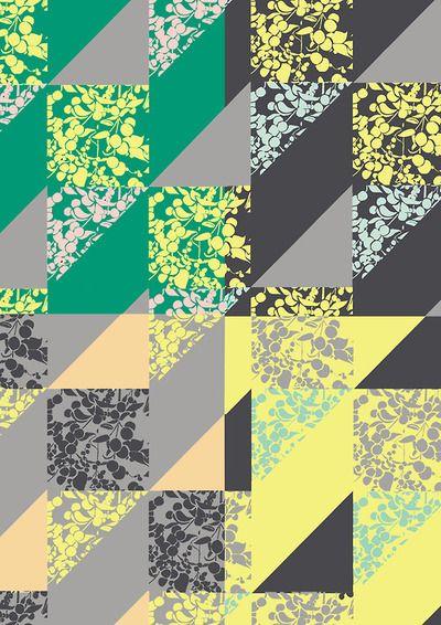 #surfacepattern  #design  #geometric #print   © Kim Dawkins 2013
