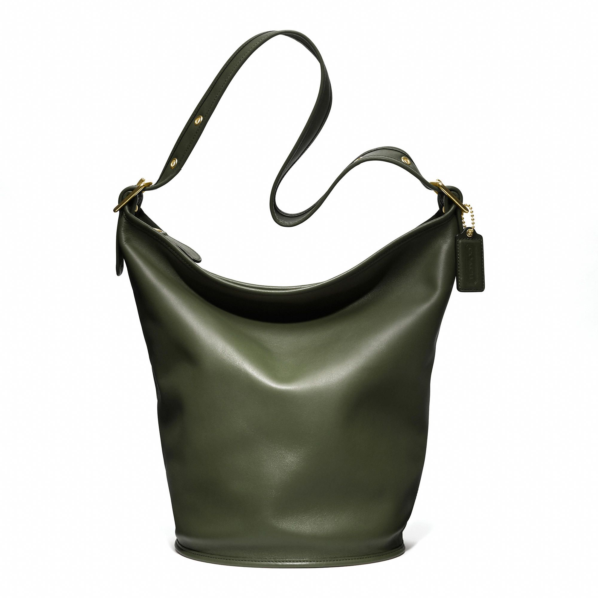 Coach :: COACH CLASSIC DUFFLE IN LEATHER ~ Olive Moss