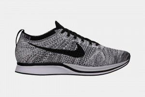 Store Outlet Online Zapatos Nike Flyknit Racer Hombre 91202-542 Negro/Blanco  Zapatillas running