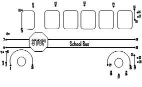 School Bus Dot To Dot Page Can Choose From 1 30 Or 1 17