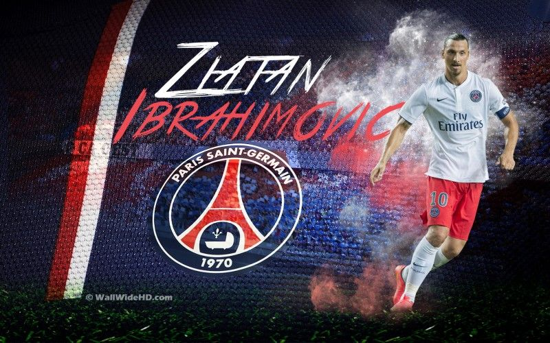Zlatan Ibrahimovic 2015 PSG Wallpaper